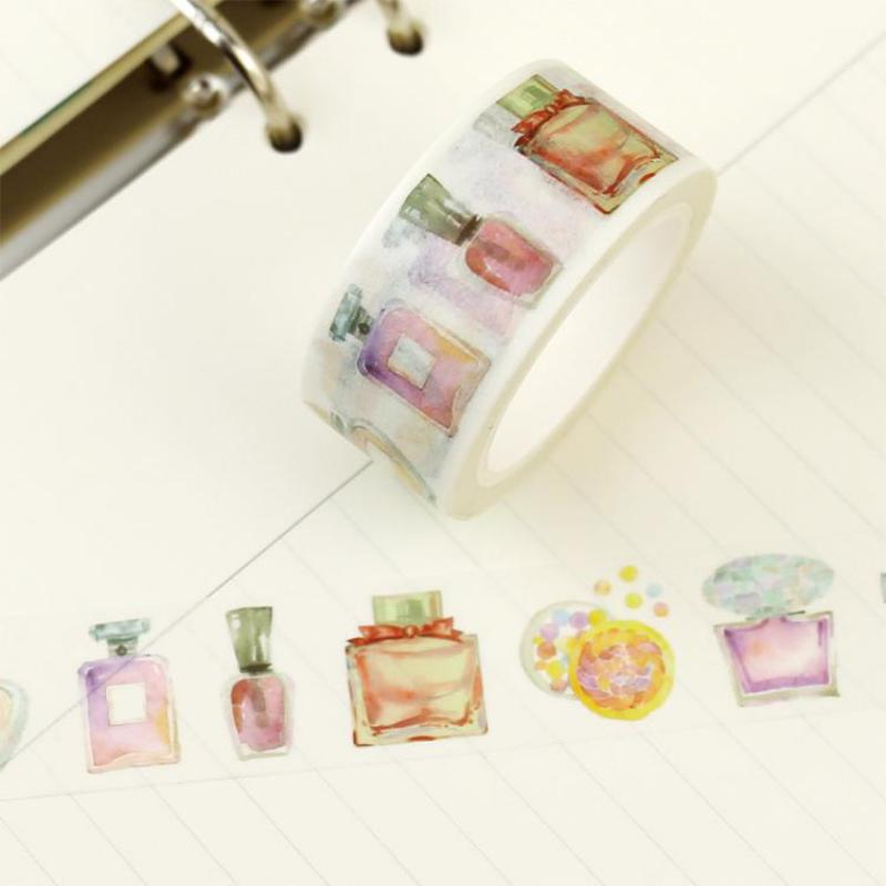 Perfume Washi Paper Tape Masking Tape Japanese Washi Tape Lace Adhesive Tape 2019 Planner Diary Notebook Accessories DIY TOOL