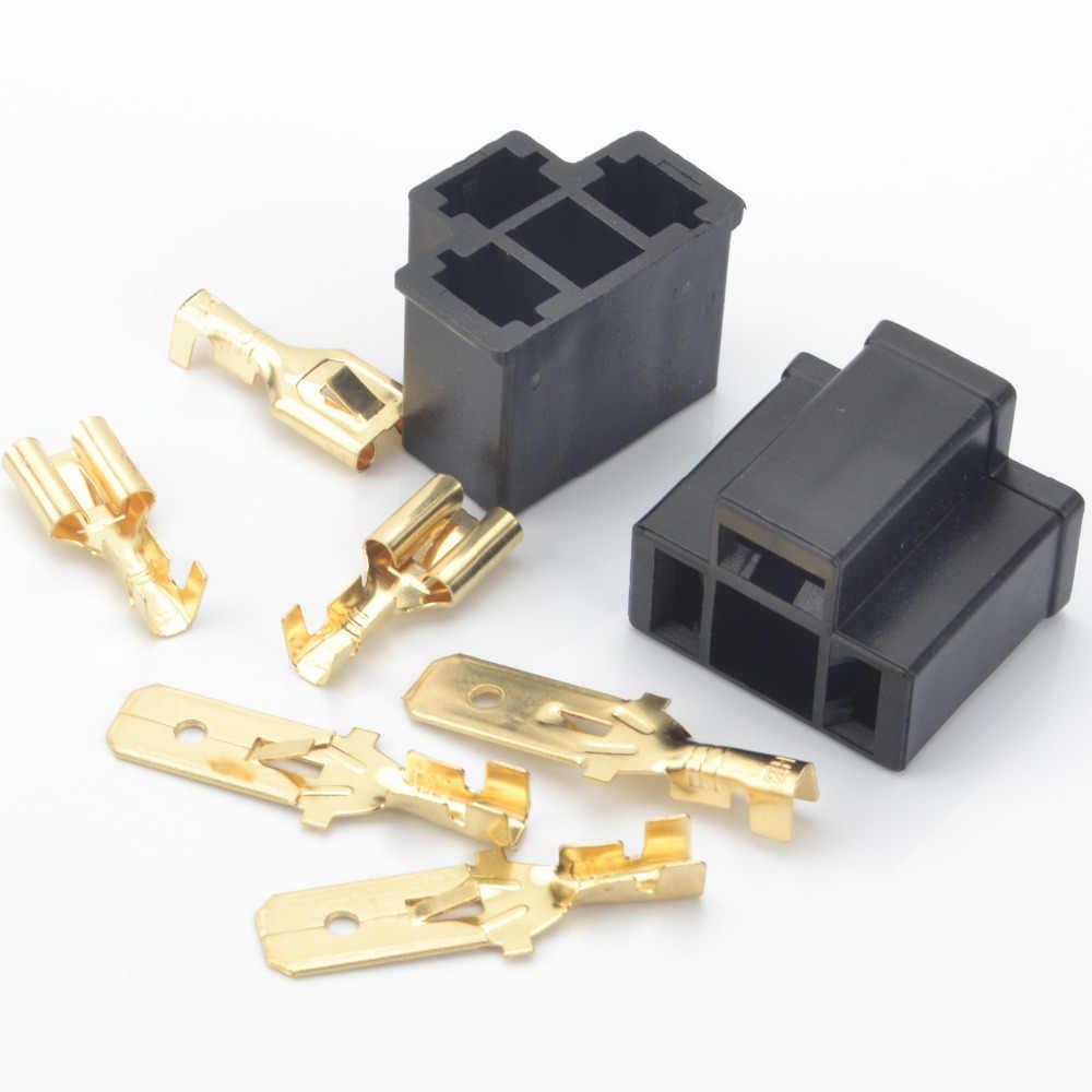 H4 9003 HB2 3Pin 7.8mm Terminal Car connector Auto Lamp Male Connector Plug HID Bulb Ballast Adaptor socket plug