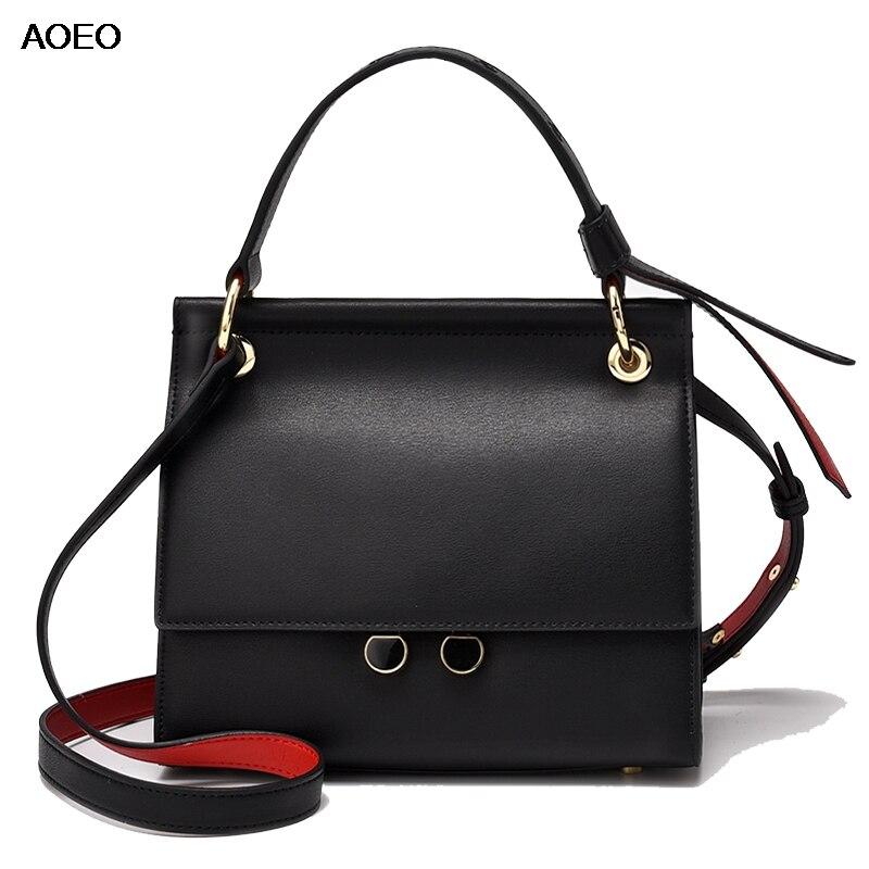 AOEO Crossbody กระเป๋าสำหรับสุภาพสตรี 2019 แยกหนังผู้หญิงคุณภาพสูงกระเป๋าถือกระเป๋าถือหญิง Messenger กระเป๋า-ใน กระเป๋าสะพายไหล่ จาก สัมภาระและกระเป๋า บน   1