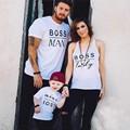 Lo nuevo de San Valentín de Regalo HOMBRE JEFE BOSS LADY & MINI JEFE Juego de La Familia Camisetas Par T-Shirt Hijo de Madre E Hija
