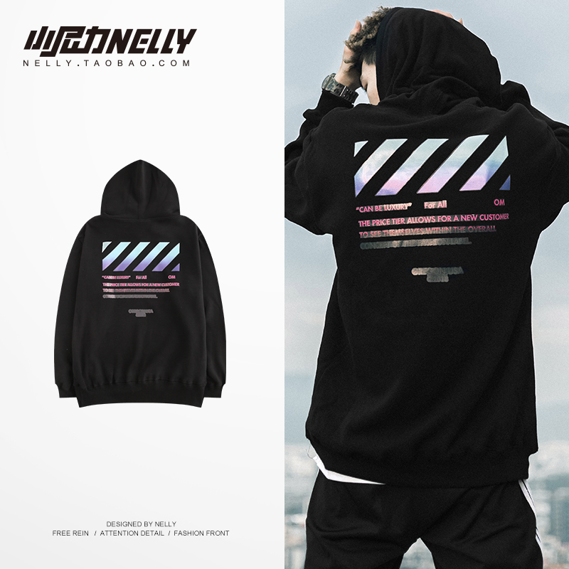 NELLY 2019 Autumn Winter England Hoodie Color Printing Unisex Hip Hop Street Dance Skateboard Sweatshirt(China)