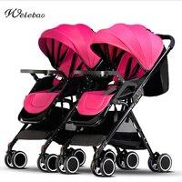 יכול להיות מקופל במיוחד עגלת תינוק תאומים יילוד תובלה יכול לשבת יכול שוכב s eparable מכונית מטריית עגלה
