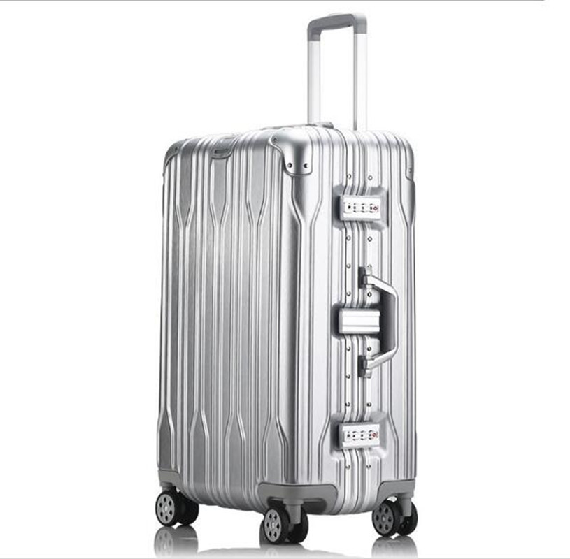 Aluminium+PC Frame Rolling Luggage Trolley Travel B 20inch Women Men Boarding Bag Carry On Suitcases Trunk LX005 20 inch fashion rolling luggage women trolley men travel bag student boarding box children carry on luggage kids trunk suitcases