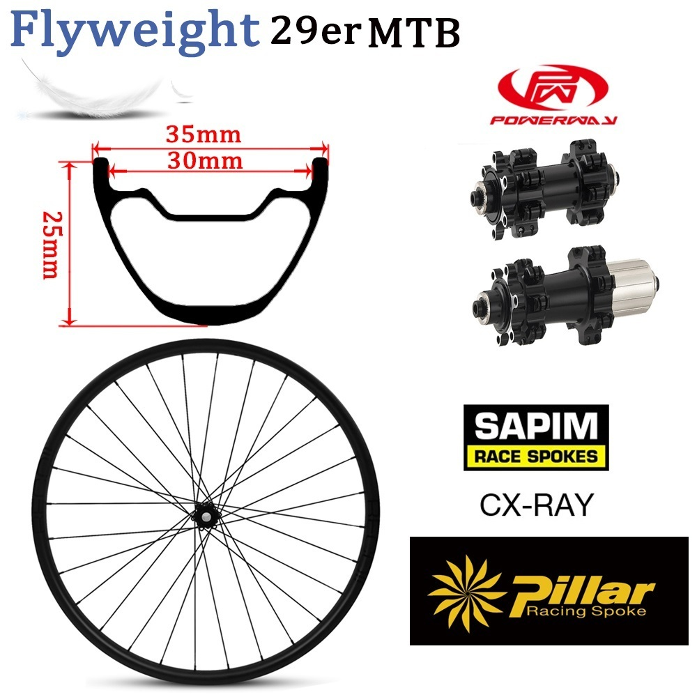 355g Light Weight Carbon Fiber 29er MTB Rim For XC Mountain Bike Wheelset Chinese Wheel With