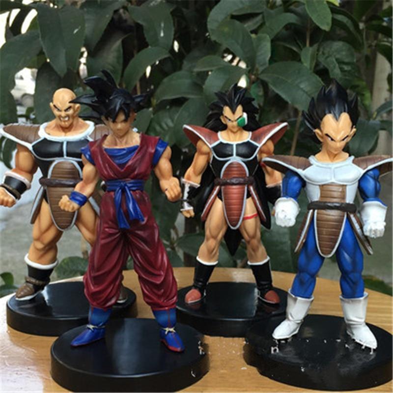 4 Pcs/set Dragon Ball Z 27 Generation Raditz Son Goku Nappa Vegeta PVC Action Figure Collectible Model Toy 13 CM OPP P543