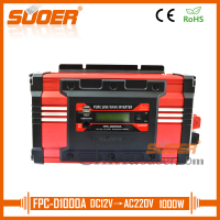 Suoer High Frequency 12V 220V Pure Sine Wave Power Inverter 1000 Watt Off Grid Inverter(FPC D1000A)