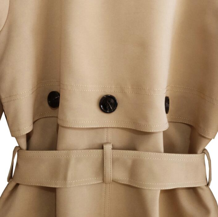 Mens trench coats man Double breasted long coat men clothes slim fit overcoat long sleeve 2019 spring new designer khaki S 6XL in Trench from Men 39 s Clothing
