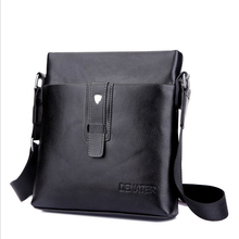 Hot   fashion Brand Men's Business shoulder bag men's casual crossbody bag Male PU leather Messenger bags   LJ-111