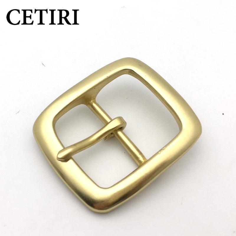 CETIRI Designer Solid Brass Leather Belt Buckles Belt Accessories Clip Women Men Belt Buckles For 4cm Width Belt For Jeans