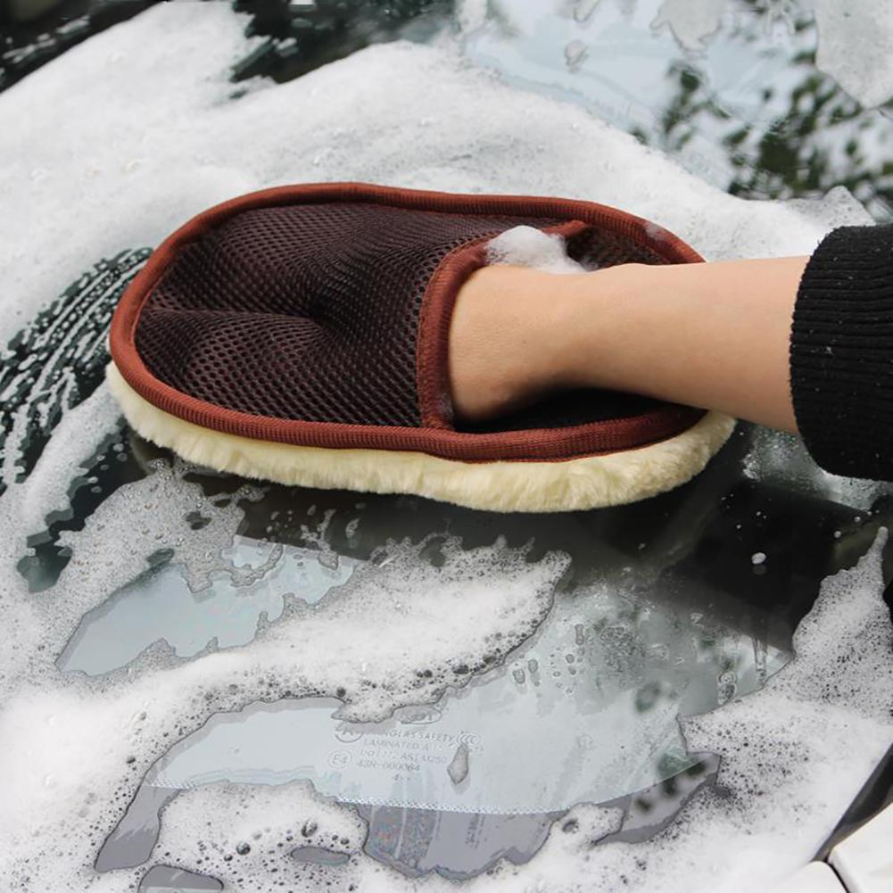 Car Styling Wool Soft Car Washing Gloves Cleaning Brush Motorcycle Car Washer Care Products
