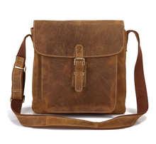 Maxdo Brown Vintage Crazy Horse Genuine Leather Men Messenger Bags Natural Cowskin Men's Bag Shoulder Bags Crossbody #MD-J7111