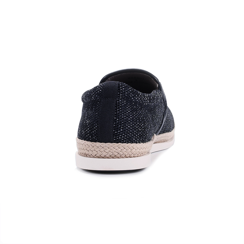 Espadrilles Confortable Casual Mocassins Bateau Mous Sur dark Glissent Toile Appartements 411 Respirant Blue Hommes Fonirra Chaussures light Blue Solide Black Ax0qYYFw