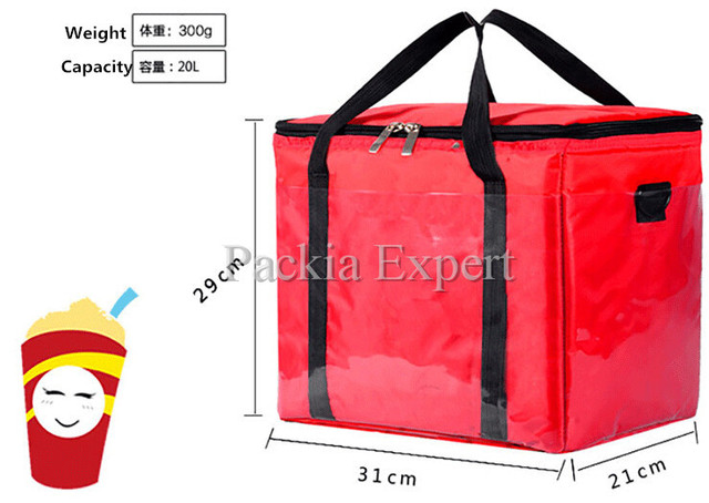 Picnic Bag Fast Food Delivery For Cake Juice Pizza Thermal Insulation