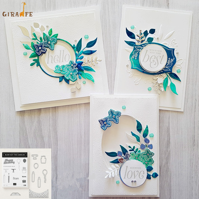 Floral Frames Metal Cutting Dies and stamps for dies scrapbooking Photo Album Embossing Decorative Craft Stamps and Dies Sets