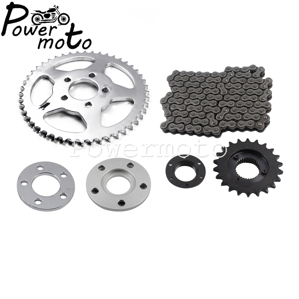Chain Drive Transmission Sprocket Conversion Kit For Harley Sportster 2000 and up 2018 XL 883 1200 XLH1200 XR1200
