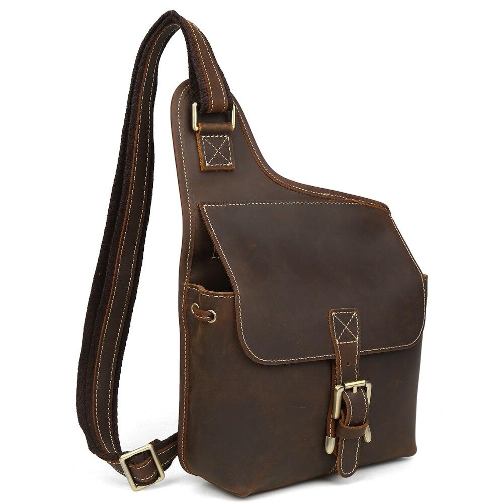 Leather Messenger Bag For Men Cell Phone Cases Retro Hobo Sling Bag Purse Uptown Bag Hippie Style Handmade 3032