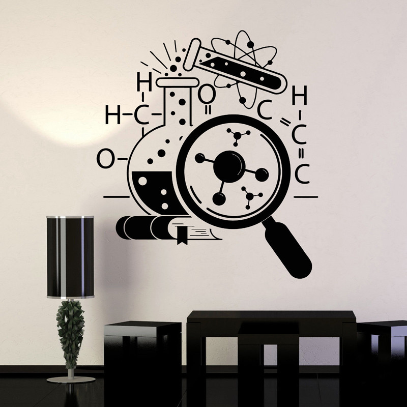 US $7.89 21% OFF Chemistry Scientist Art Stickers Wallpaper Teens Bedroom  Removable Home Decoration Science Vinyl Wall Decal Lab Decor Mural-in Wall  ...