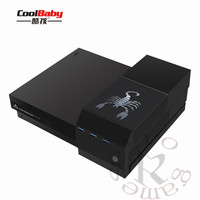 External Hard Drive Enclosure Case Box USB 3.0 Media Hub for Microsoft Xbox One X Game Controller for 2.5 /3.5 inch Hard Disk