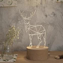 Ambitieus Jw_table Lampen Herten Slaapkamer Night Lights Led Decoraties Horsten 3d Bureaulamp Elanden Lichten Handcraft Kerst Speelgoed Gift Usb Plug Voor Een Soepele Overdracht