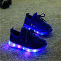 2016 Autumn Fashion LED Children's shoes girls boys casual Lighted Mesh Breathable sneakers shoes with lights for kids
