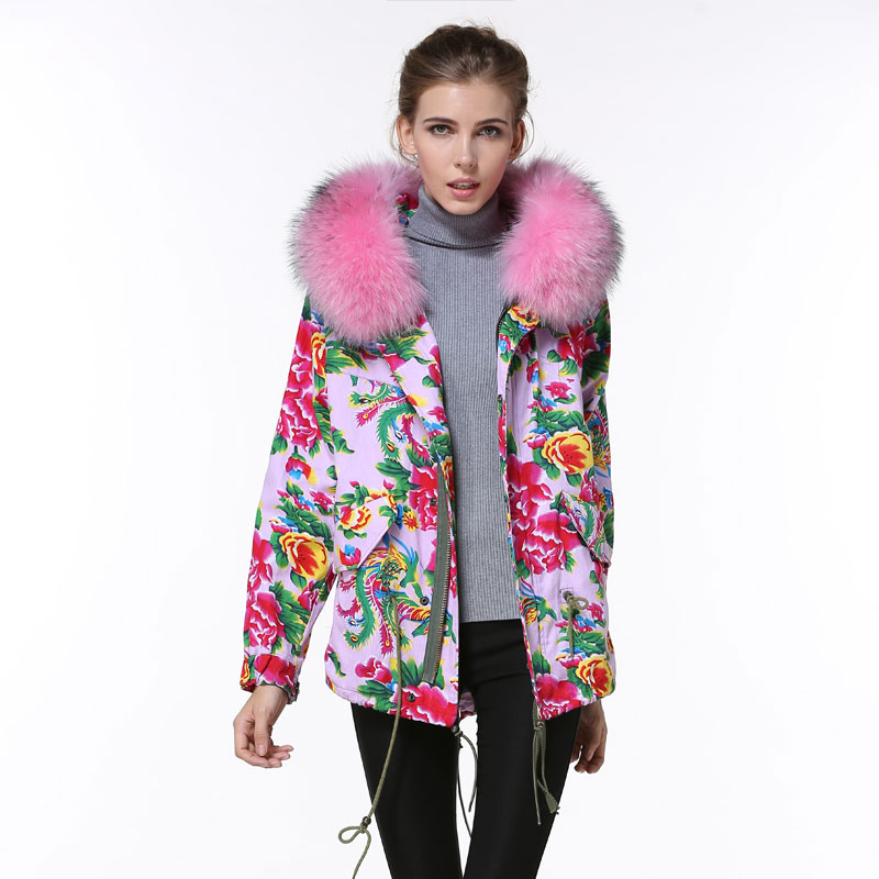 Chinese style print sweetness and freshness women wind coats pink ...
