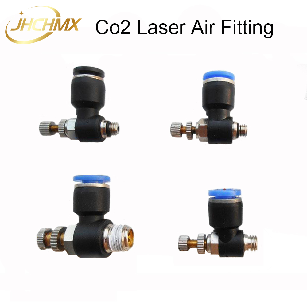 High Quality 5pcs/lot Co2 Air Fitting Air Assist Air Adjuster For CO2 Laser Cutting Machine Co2 Laser Cutting Head