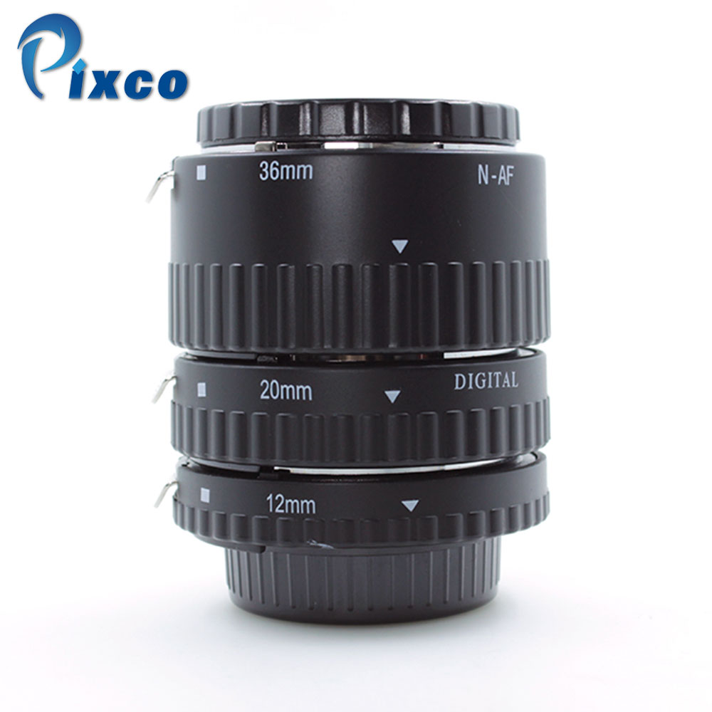 Pixco Metal Auto Focus Macro Extension Tube Set Suit For Nikon MK-N-AF1-A 12+20+36mm недорго, оригинальная цена
