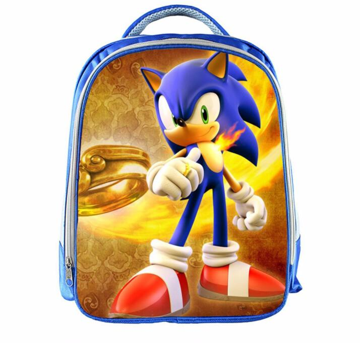 a44557e858 13 Inch Super Mario Bros Sonic Backpack Kids School Bags for Boys ...