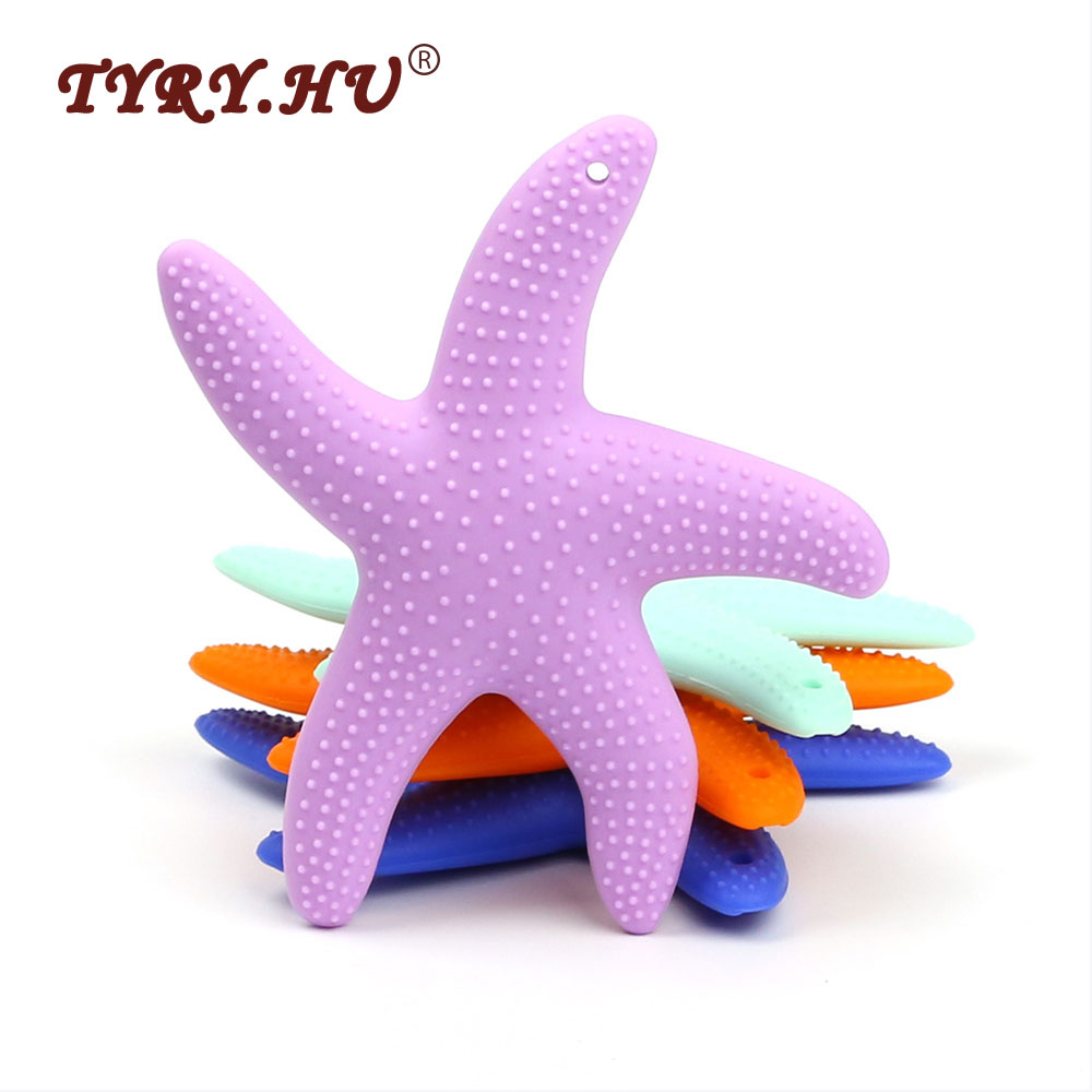 TYRY.HU Dancing Csillaghalú szilikon Baby Teether BPA Szabad - Babaápolási