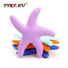 TYRY.HU Dansare Starfish Silicon Baby Teether BPA Free Silicone Teedher Margele de mestecat Baby Dentitor Pendent Dinte de Formare Jucarii