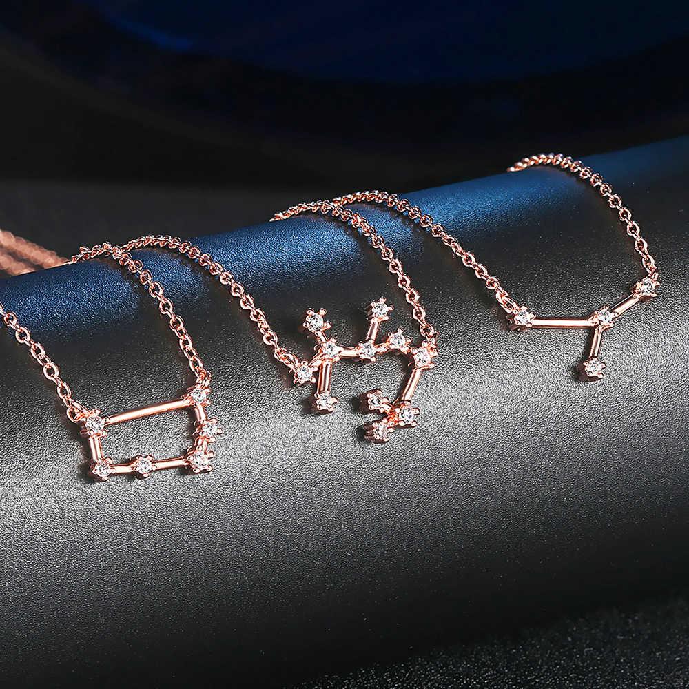 ZHOUYANG Constellation สร้อยคอผู้หญิงพิเศษ Cubic Zirconia Rose Gold สีที่ดีที่สุดของขวัญแฟชั่นเครื่องประดับ N623 N634