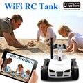 I mini-espião 4ch rc toy tanque wifi ftv car controlado por iphone/ipad/android/ios wifi camera brinquedo tanque de controle remoto melhor presente