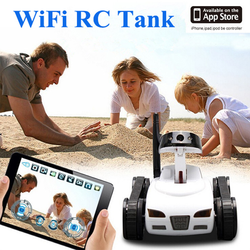Mini i-Spy 4CH RC Tank WiFi FTV Car Controlled by IPhone/iPad/Android/IOS Wifi Camera Remote Control Tank Toys Best Gift