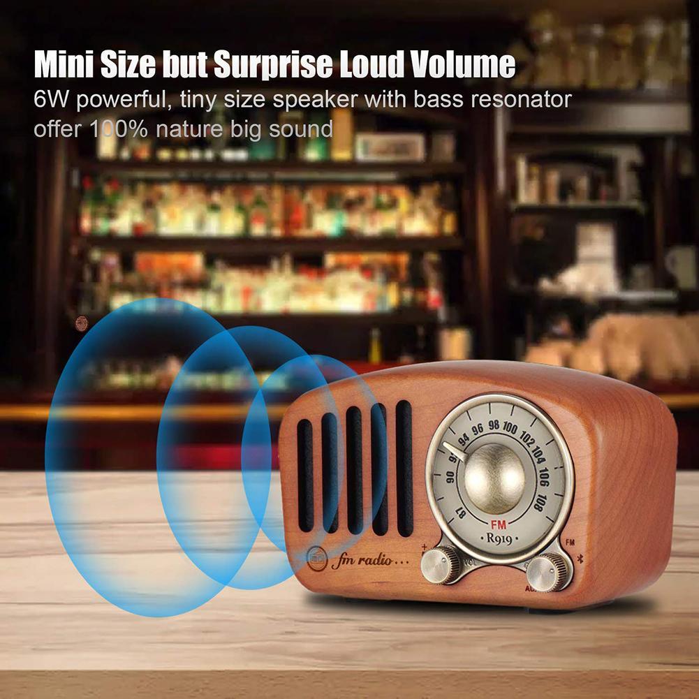 Rétro extérieur intelligent Mini carte TF lourd Radio lecteur MP3 haut-parleur Bluetooth