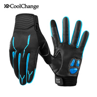 CoolChange Cycling Gloves Winter Thermal Windproof Bicycle Gloves Outdoor Sport MTB Bike Glove Full Finger GEL