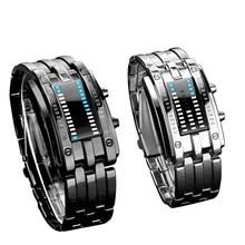 Fashion Creative Lovers Couple Watch 1 Pair LED Digital Display Waterproof Wristwatches Men Women WatchesClock Relogio Gift 30