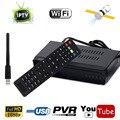 1G 8 M RAM IPTV DVB-S2 de Satélite Digital HD Receptor Combo Set Top BOX + USB WIFI Dongle Soporte IKS CCCAM Biss Clave Poder VU