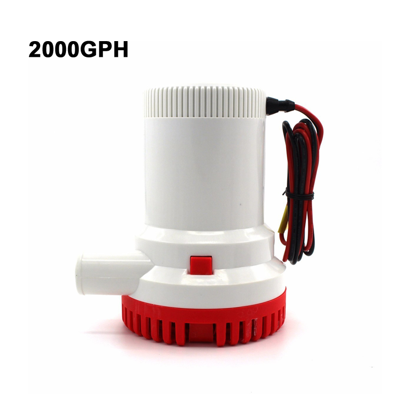 DC 12V 24V 2000 GPH Boat Marine Bilge Pump Submersible Water Pump for Yacht High Flow