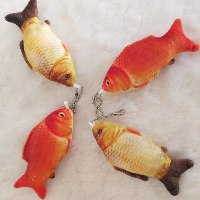 1PC 10cm Mini Cute Fish Plush Pendant Soft Cartoon Animal Carp Stuffed Doll Keychain Toys Kids Gift