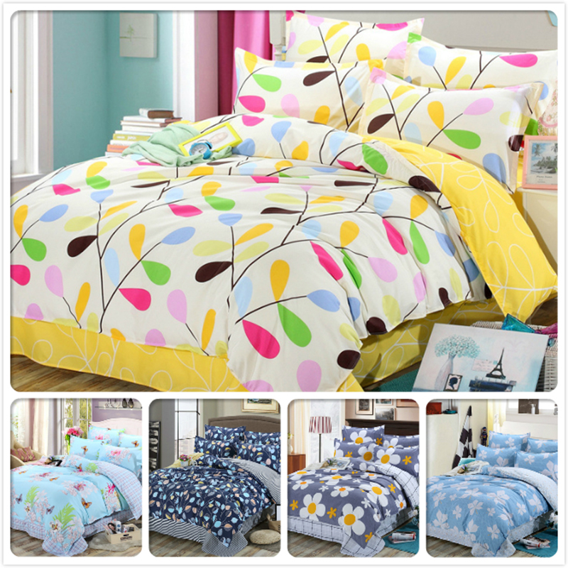 Leaf Pattern Kids Bed Linen Bedsheet Pillowcase Duvet Cover 3/4 pcs Bedding Set Full King Queen Twin Single Size Cotton BedlinenLeaf Pattern Kids Bed Linen Bedsheet Pillowcase Duvet Cover 3/4 pcs Bedding Set Full King Queen Twin Single Size Cotton Bedlinen