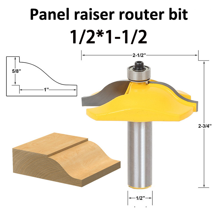 Freeshipping Panel Raiser Router Bit Shallow Bevel 1/2-Inch Shank for Wood carving cutter 30 degree 1 2 inch shank router bit milling cutters for wood woodworking drill bevel edging for wood tool