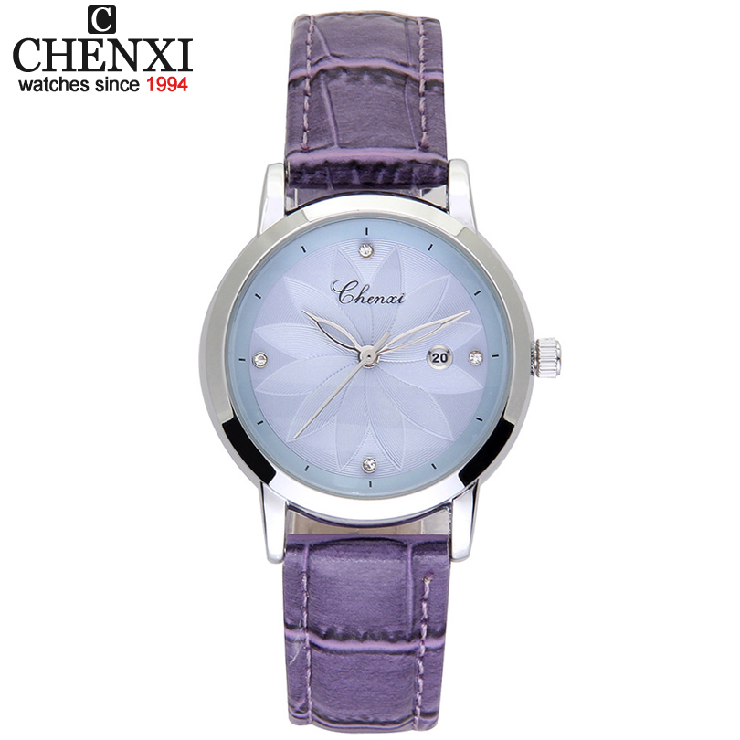 CHENXI Fashion Women Watches For Top Luxury Brand Leather Strap Watch Ladies Quartz Clock Dress Wristwatches Hot Bracelet Gift 4 3 inch lcd digital doorbell 160 degree peephole viewer door eye doorbell color ir camera automatic video recording