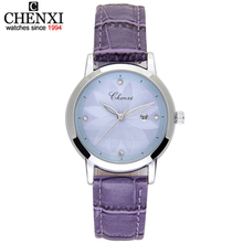 CHENXI Fashion Women Watches For Top Luxury Brand Leather Strap Watch Ladies Quartz Clock Dress Wristwatches Hot Bracelet Gift