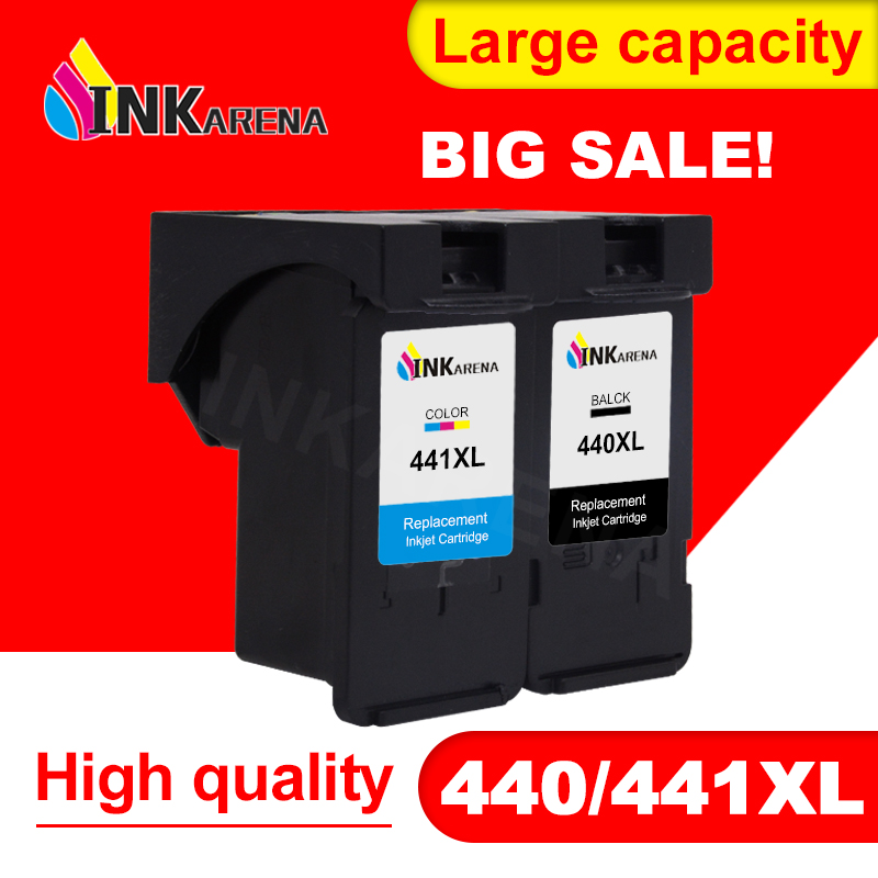 INKARENA Ink Cartridge For <font><b>Canon</b></font> PG440 CL441 Printer Cartridges PG-<font><b>440</b></font> CL-441 <font><b>XL</b></font> PG <font><b>440</b></font> CL 441 PIXMA MG4240 MG4140 MG3540 MG3240 image