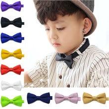 Новинка; Модный Детский галстук-бабочка для маленьких мальчиков; галстук-бабочка на свадьбу; H9