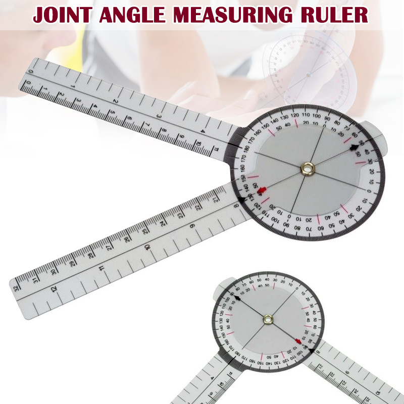 13 Inch 33cm Calibrated Goniometer Medical Joint Ruler 360 Degrees Range Tool DAG-ship