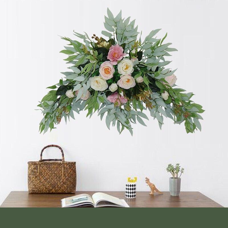Flone fleur artificielle ensemble fleur artificielle fleur artificielle porte décoration arrière-plan coin fleur mariage arrangement batteuse