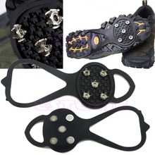 Hot Sale 1Pair Ice Snow Studs Non-Slip Spikes Shoes Boots Grippers Crampon Walk Cleats