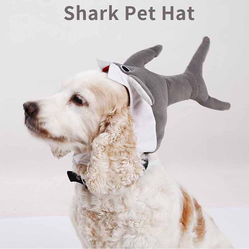 Cute Dogs Caps Fish Tail Headwear Elastic Costume Birthday Wedding Party Headband Decor Pet Cat Hat Accessory in Dog Caps from Home Garden