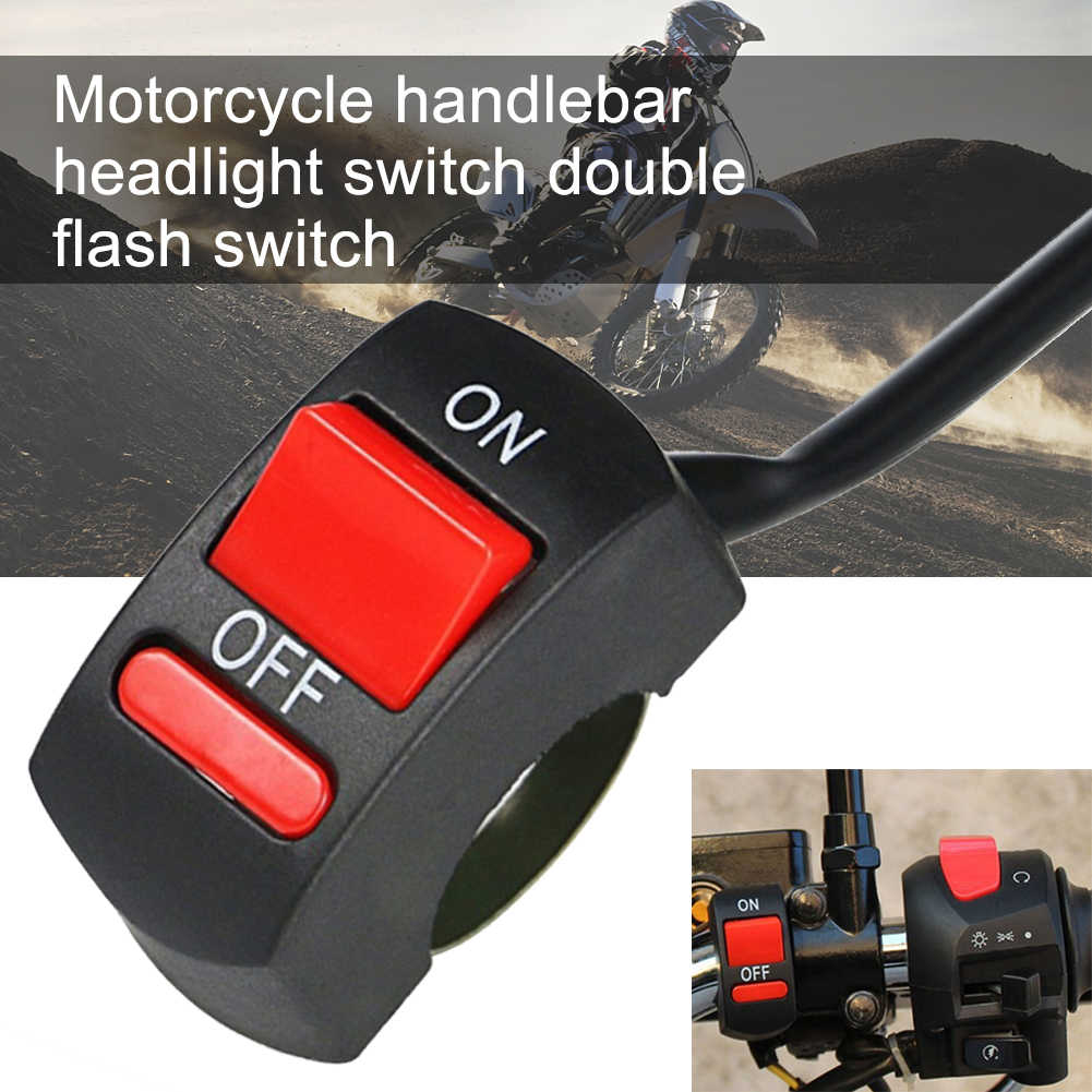 Motorcycle Mount Button Universal ON/OFF Handle Tuning Part Waterproof Accessories Switch For U5  U2 LED Headlight